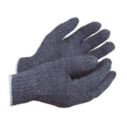 Mixed Fibre Grey Knitted Liner Gloves