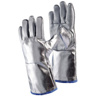 Fibre-glass glove with silicone coating